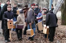 Скворечники в Киеве